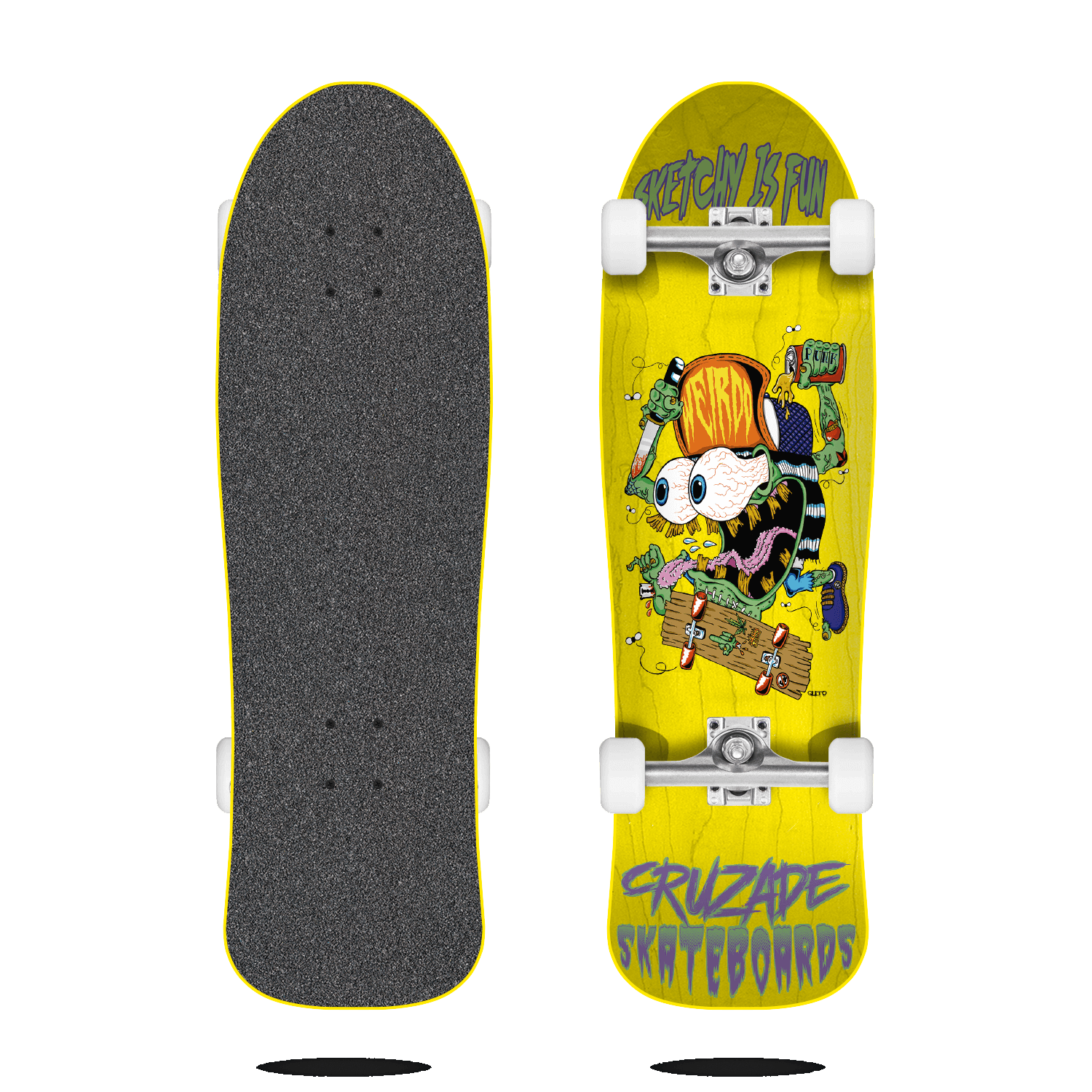 cruzade sketchy is fun yellow 9.0 complete