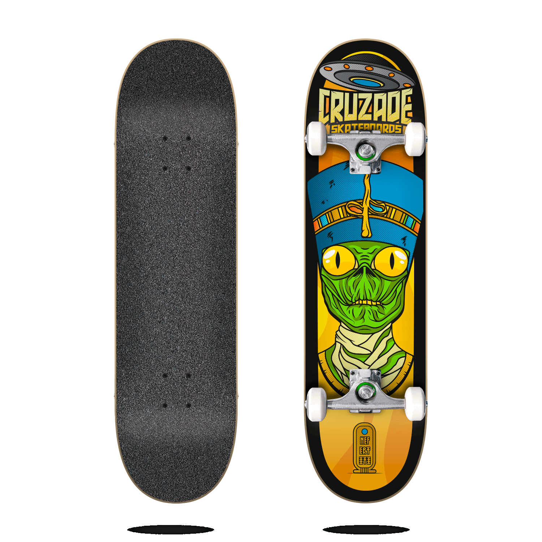 "cruzade conspiracy nefertiti 8.0"" complete skateboard"